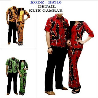 Model batik couple long dress pasangan muda