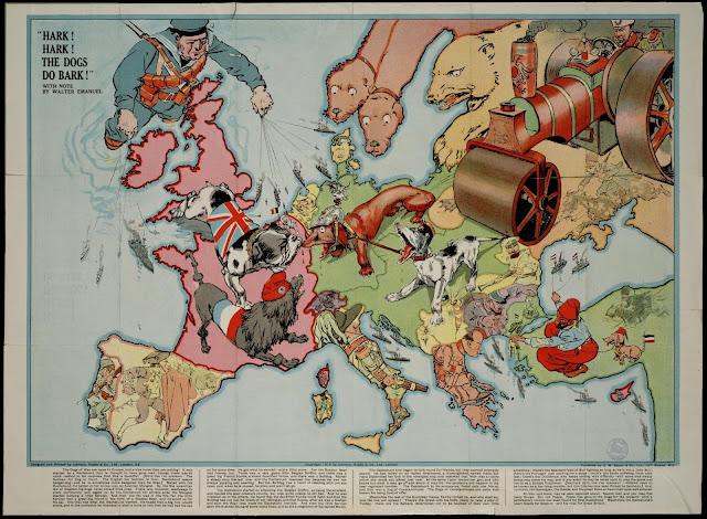 Resultado de imagen de caricaturas de la primera guerra mundial