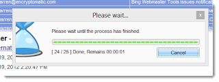 Export process progress bar