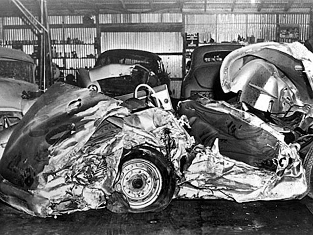 Haunting Photographs From James Dean S Fatal Car Wreck In