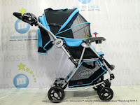 Pliko PK399 Paris with Parent Tray Baby Stroller-Forward & Rear Facing Light Blue