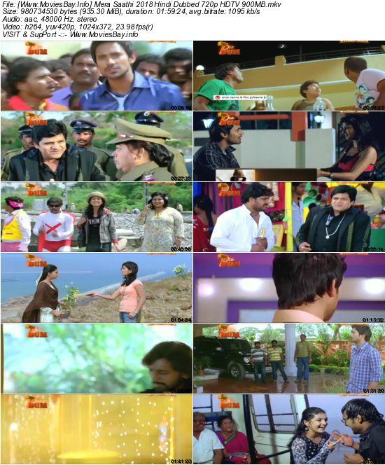 Mera Saathi 2018 Hindi Dubbed 720p HDTV 900MB
