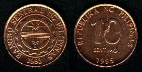 Philippines 10 Sentimos (1995-2002)