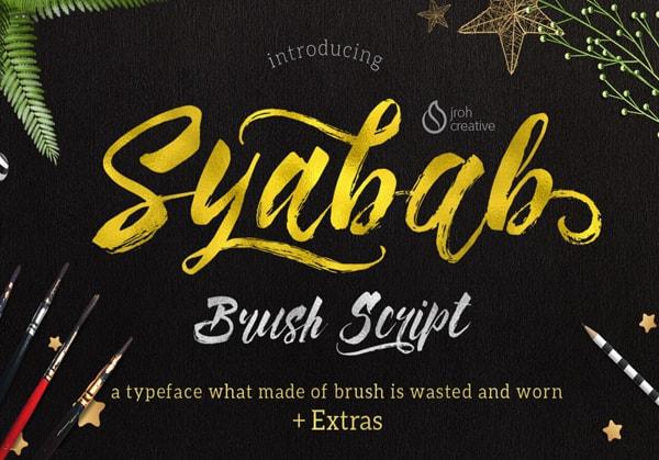 Brush font terbaik 2017 - Syabab – Free Brush Font