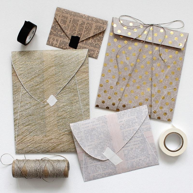 DIY: mixed paper envelopes — paperiaarre