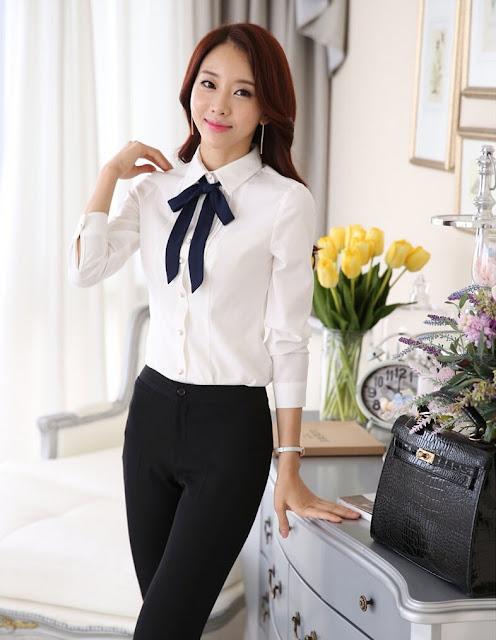 Model Kemeja Korea Untuk Wanita Karir Import Murah