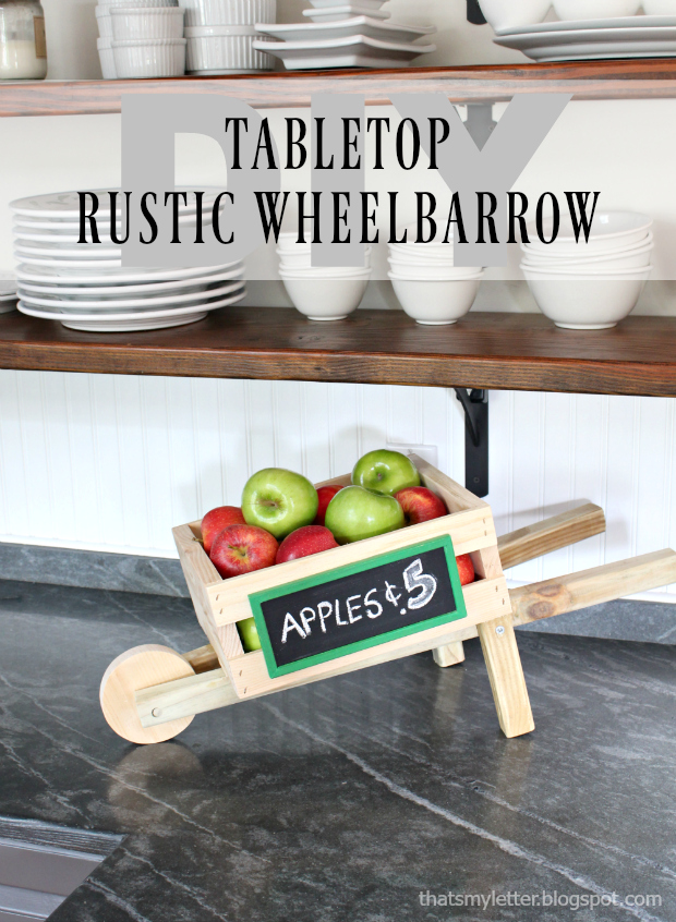 diy tabletop rustic wheelbarrow