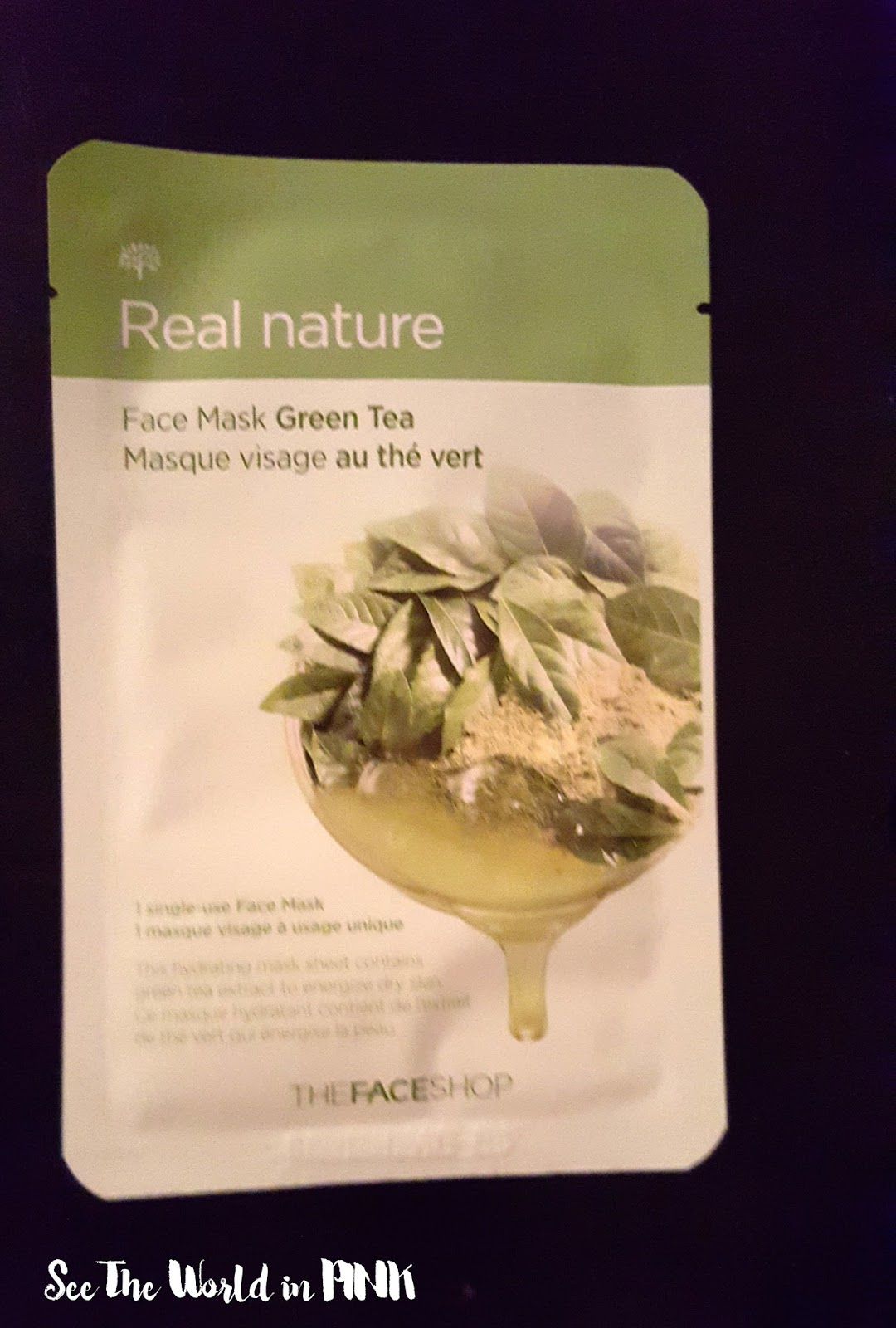 the face shop real nature face mask green tea