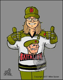 North Bay Battalion hockey  fan caricature  Ontario  gift idea