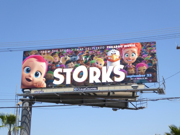 Storks film billboard