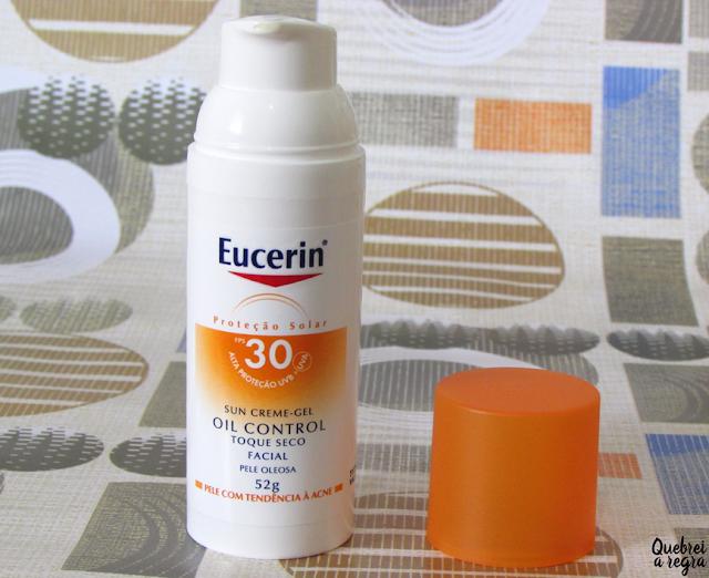 Sun Creme-Gel Oil Control Toque Seco FPS30 da Eucerin