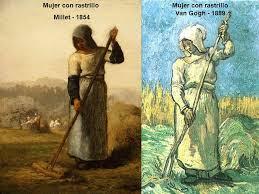Mujer con rastrillo, Millet, Van Gogh