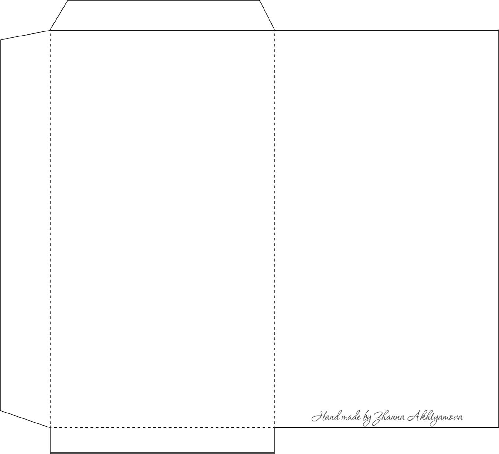 Шаблоны для распечатки конвертов из бумаги, детской