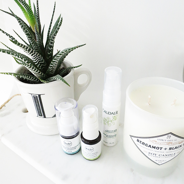 Rocky Mountain Soap Co. Transformative Cleansing Oil and Hydrating Toner, Caudalie Makeup Removing Cleansing Oil