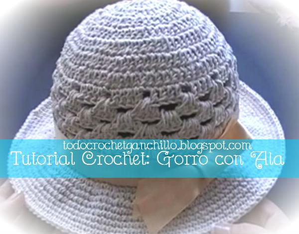 Aprende a tejer un sombrero con ala paso a paso en ganchillo