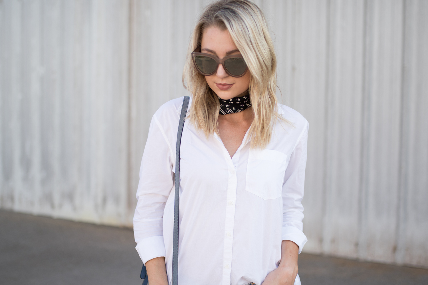 Making a white button down chic