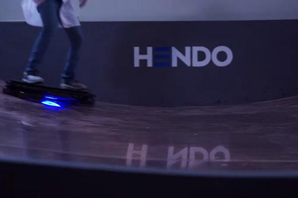 滑板使用示意圖,數位時代翻攝自 Hendo 網站