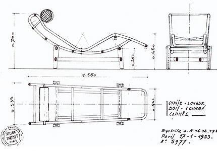 Chaise lounge lc4 de le corbusier una lounge cl sica for Chaise longue medidas