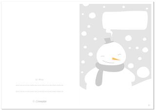 MUÑECO DE NIEVE Tarjeta de Navidad GRATIS / SNOWMAN Cool and cute Christmas Card FREE © @evacreando