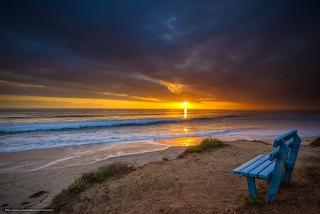 panchina-tramonto