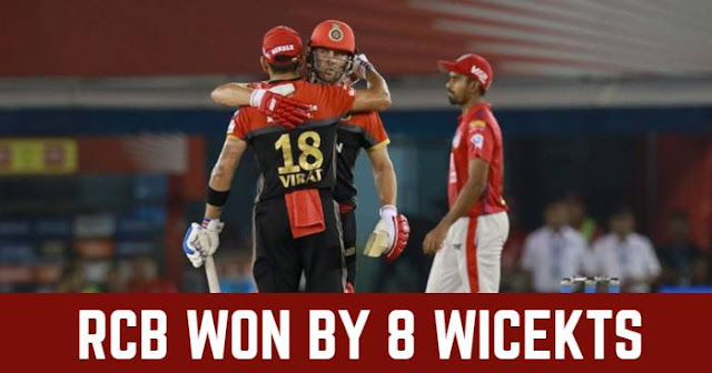 Royal Challengers Bangalore won by 8 Wickets