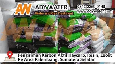 Pengiriman karbon aktif, resin, zeolit ke Area Palembang