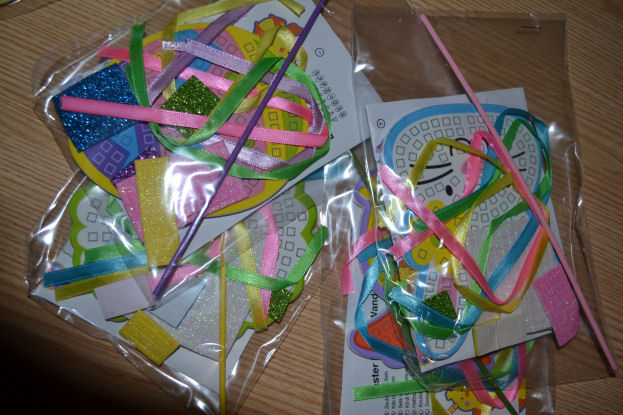 Easter Mosaic Wands from yellownmoon.org.uk @ ups and downs, smiles and frowns.