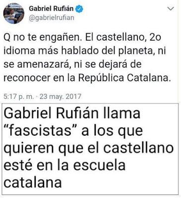 Que no te engañen. El castellano, 2o idioma más hablado del planeta, ni se amenazará , ni se dejará de reconocer en la república catalana.