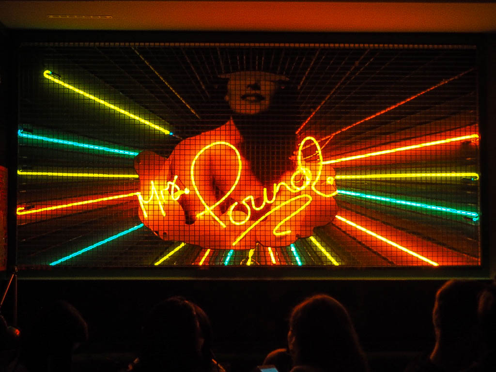 Mrs Pound neon sign