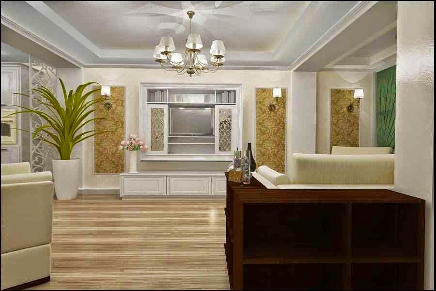 Design interior tapet living de lux