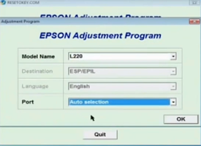 Cara reset printer Epson  L220