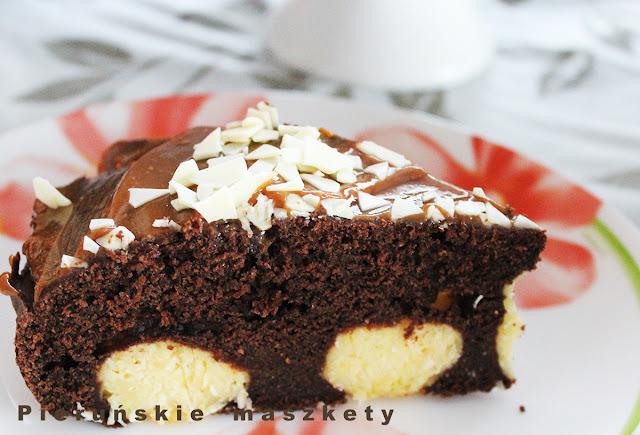 ciasto z kulkami serowo-kokosowymi