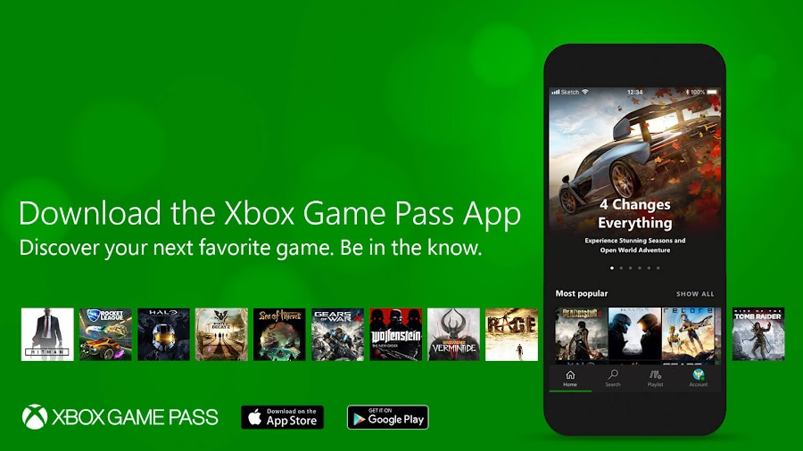 xbox game pass mobile app X018