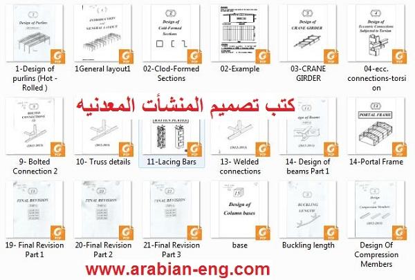 كتب المهندس أكرم مصطفى لتصميم المنشأت المعدنيه