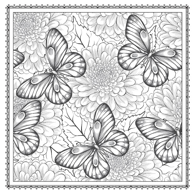 Blossom Magic Beautiful Floral Patterns Coloring Book For Adults Color  Magic Arsedition