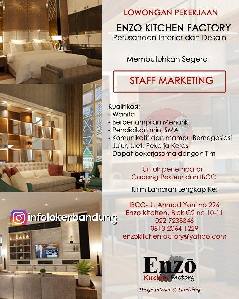 Lowongan Kerja Enzo Kitchen Factory Bandung Maret 2019