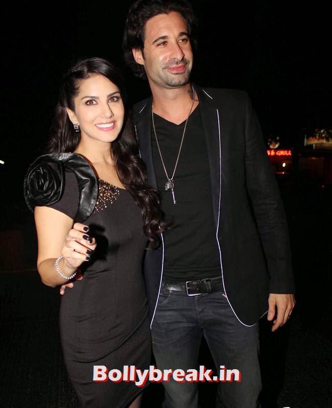 Sunny Leone and Daniel Weber, Sunny Leone, Gauhar & Sana Khan at Baby Doll Success Party