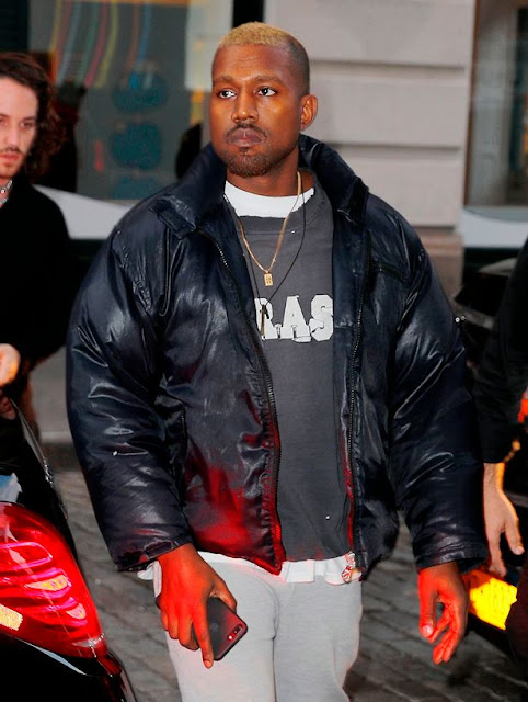 Kanye West Steps Out With New Blonde Hairstyle