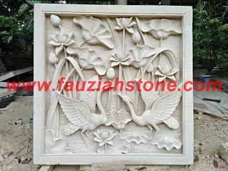 kerajinan batu alam paras putih