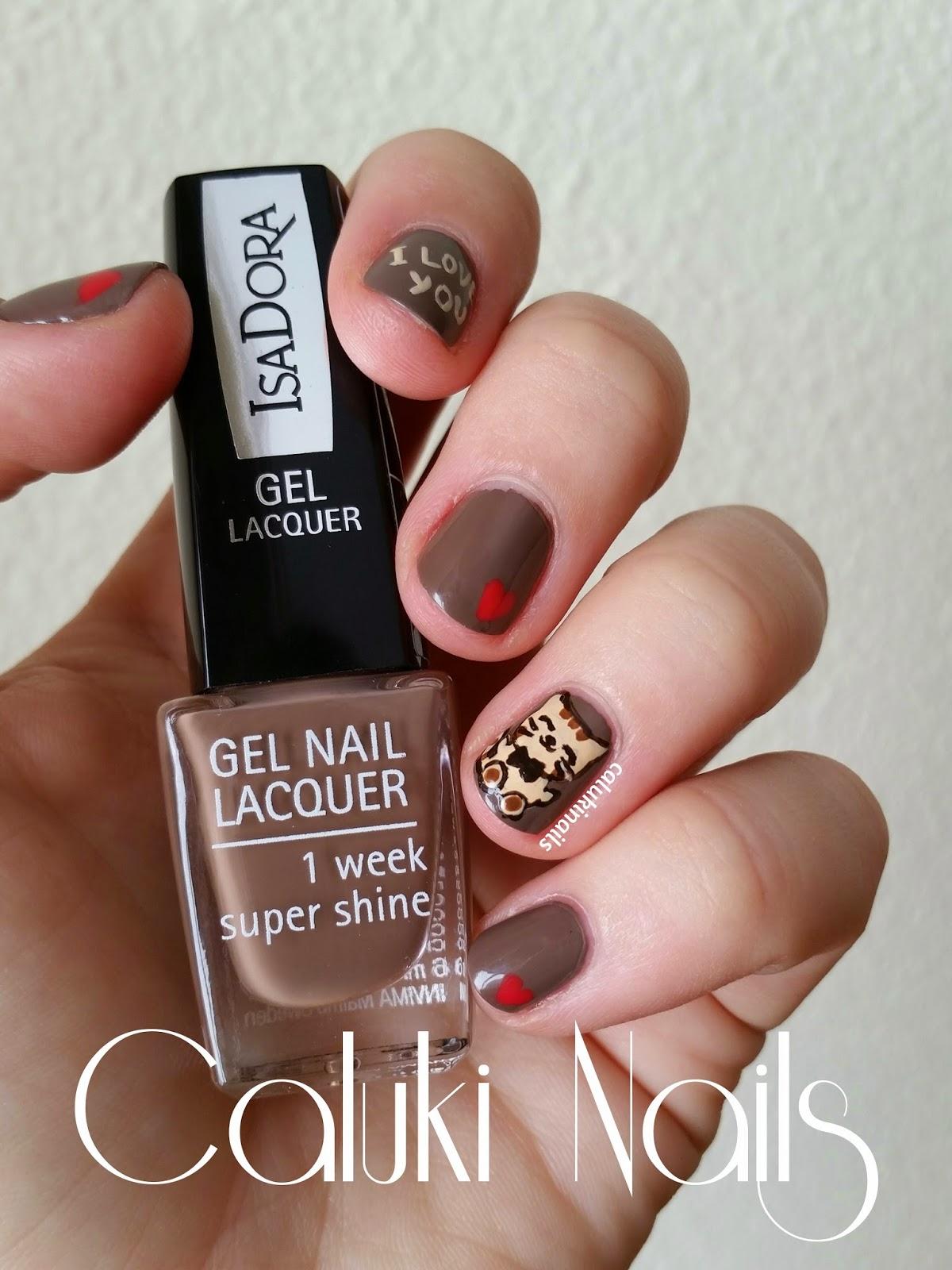 Caluki Nails Nail Art Gatito De San Valentín Isadora