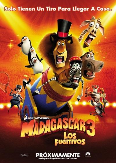 Madagascar 3 Los Fugitivos DVDRip Español Latino Descargar 2012