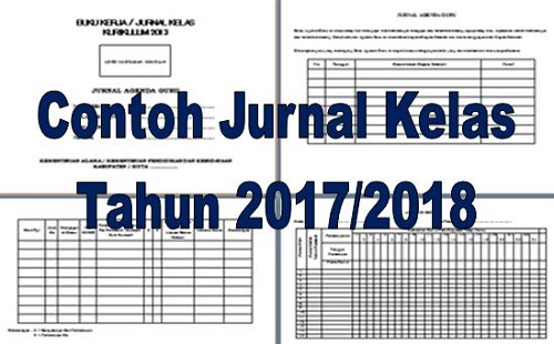 Contoh Jurnal Kelas Tahun 2017/2018