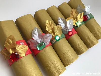 How to make glittery jewelled napkin rings for Christmas