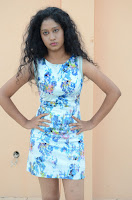 Actress Priyankha Stills in Floral Short Dress at Golmal Gullu Movie Pressmeet 0191.JPG