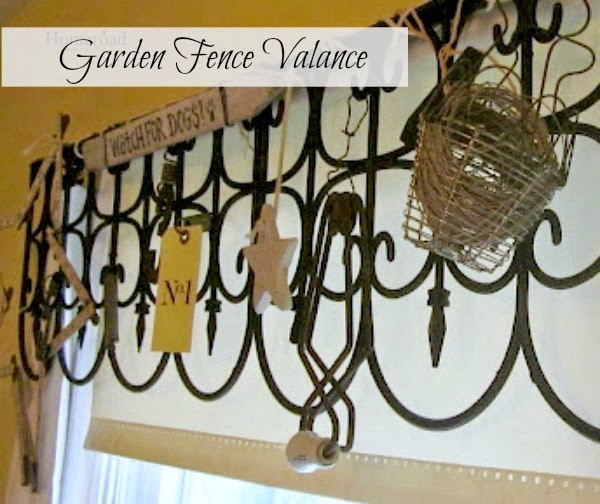 Creating a valance using garden fencing www.homeroad.net