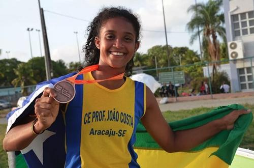 Ketilly Hortencia foi medalha de bronze