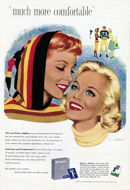 Glamorous Kotex Ads From The 1950s Vintage Everyday