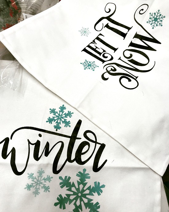 Winter themed DIY pillow covers