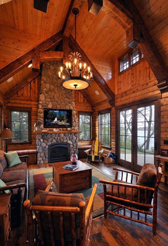 Warm Cozy Family Room Design Ideas picture