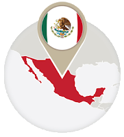 Mexican flag and map
